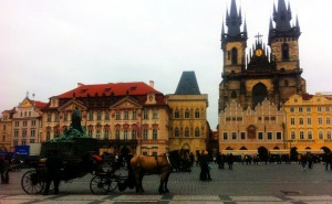 The Old Town Square, House of the Stone Bell and Kinsky Palace
