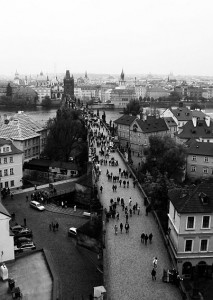 Charles Bridge from the Mala Strana Tower